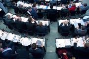 Der Luzerner Kantonsrat debattiert über das Sparpaket. (Bild: Boris Bürgisser / Neue LZ)