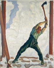Eine zweite neue Ausstellung aus Werken der Museumssammlung widmet sich bis am 22. November der menschlichen Figur. Im Bild: Der Holzfäller von Ferdinand Hodler. (Bild: PD)