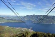 Der Schutzverband kämpft für eine intakte Landschaft. Auf dem Bild der Vierwaldstättersee, fotografiert von der Bergstation der Klewenalp-Bahn. (Archivbild Markus von Rotz / Neue NZ)