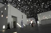 Auf mehr als 6000 Quadratmetern soll hier die Geschichte der Menschheit erzählt werden. (Bild: Kamran Jebreili / EPA (Abu Dhabi, 6. November 2017))