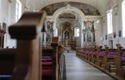 Innenraum der Kirche St. Matthias in Steinhausen. (Bild: Stefan Kaiser)