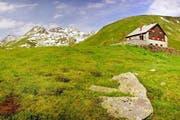 Die Vermigelhütte liegt auf einer Höhe von 2050 Metern auf der Alp Sunnsbiel in Andermatt. (Bild: pd)