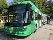 Der neue SC-Kreins-Bus fährt neu auf der Linie 4 durch Luzern. (Bild: PD)