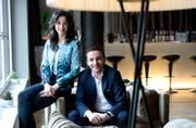 Nominiert in der Kategorie Innovation: Maria und Bardhyl Coli vom Hotel Vitznauerhof in Vitznau. (Bild: Eveline Beerkircher)