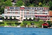 Das Hotel Hermitage in Luzern liegt direkt am See. (Bild: Corinne Glanzmann / Neue LZ (Archiv))
