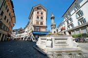 Das «Krienbrüggli»-Gebäude (Bildmitte) im Luzerner Kleinstadtquartier hat einen neuen Besitzer. (Bild Dominik Wunderli)