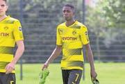 Einer, den die Transferregeln wenig kümmern: Ousmane Dembélé (hier noch im Dortmund-Dress.) (Bild: Guido Kirchner/Keystone, 9. August 2017)