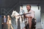 Wilhelm Tell (Pan Aurel Bucher) während den Altdorfer Tellspielen im Jahr 2016. (Bild: Keystone/Urs Flüeler)