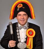Heinz Bieri im vollen Schneckenzunft-Schmuck. (Bild: pd)