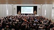 Deutlich mehr Besucher als sonst: 361 Personen erschienen jüngst zur festlich geschmückten Wintergemeinde in Baar. (Bild: PD)