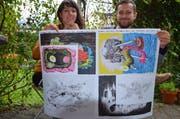 Lina Müller und Luca Schenradi haben den Zuspruch für den Atelieraufentahlt in New York erhalten. (Archivbild Sven Aregger/Neue UZ)
