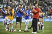 4. August 2016: Der FC Luzern scheidet in der 3. Runde der Europa-League-Qualifikation gegen Italiens Serie-A-Verein Sassuolo aus. Nach dem 1:1 im Hinspiel verlieren die Luzerner das Rückspiel mit 0:3. (Bild: Martin Meienberger)