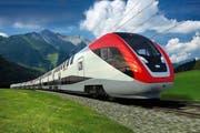Der neue Doppelstockzug ist ab 2013 unterwegs. (Bilder SBB)