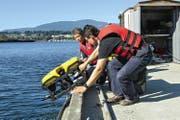 Dieses ferngesteuerte Unterwasserfahrzeug unterstützt Archäologen in Japan auf der Suche nach einem verschollenen U-Boot. Im Unterwasserroboter kommen Motoren-Getriebe-Komponenten von Maxon Motor aus Sachseln zum Einsatz. (Bild PD)