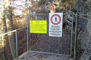 Der Felsenweg ist über den Winter geschlossen. (Bild: René Meier / Luzernerzeitung.ch)