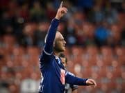 Marco Schneuwly schoss die ersten zwei Luzerner Treffer (Bild: KEYSTONE/GIAN EHRENZELLER)