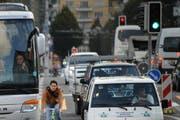 Für Verkehrsampeln in der Stadt Luzern ist eine neue Steuerung notwendig. (Bild Boris Bürgisser/Neue LZ)