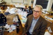 Nikolaus Wyss im März 2008 in einem der Schulräume der Hochschule Luzern - Design & Kunst. (Bild Corinne Glanzmann/Neue LZ)