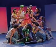 Proben zum Musical «95 – Ninety-Five», das am Samstag erstmals aufgeführt wird. (Bild: PD)