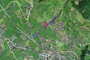 Der Umbau der Nietenbachstrasse wird deutlich teurer als erwartet. (Bild: maps.search.ch)