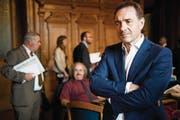 Der Initiant der Wiedergutmachungs-Initiative, Guido Fluri, im Bundeshaus. (Bild: Anthony Anex/Keystone (Bern, 15. September 2016))