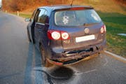 Das andere demolierte Auto (Bild: Luzerner Polizei)