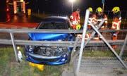 Die Unfallstelle auf der Rotzlochstrasse in Stans. (Bild: Kantonspolizei Nidwalden (Stans, 22. Juli 2017))