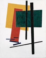 Kasimir Malewitsch: «Suprematistische Komposition (mit gelben, orangenen und grünen Rechtecken)», 1915. Öl auf Leinwand. (Bild: PD)