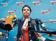 Frauke Petry kann vor den Medien ihren Unmut nicht verbergen. (Bild: Wolfgang Rattay/Reuters (Köln, 22. April 2017))