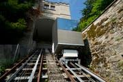 Fährt ab heute Freitag 12 Uhr wieder: Das Gütschbähnli in der Stadt Luzern. (Bild: Archiv Neue LZ)