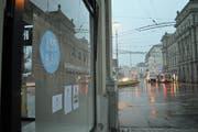 Hier, an der St.-Leodegar-Strasse mit Blick Richtung Schweizerhofquai, wird die «Äss-Bar» im April aufgehen. (Bild: Jonas von Flüe (Luzern, 16. Februar 2018))