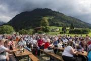 Die Gedenkfeier 600 Jahre Bruder Klaus in Flüeli-Ranft. (Bild: Alexandra Wey/Keystone)