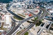 Blick auf die Baustelle 'Seetalplatz' im August dieses Jahres. (Bild: Philipp Schmidli / Neue LZ)