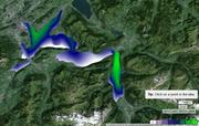 Ein Beispiel von Donnerstag, 23. Juni 2016 um 12 Uhr: Wellengang von bis zu 1,6 Metern im Urnersee und vor Meggen. (Bild: www.swisslakes.net / Screenshot)