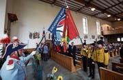 Fahnenweihe der Brass Band Kirchenmusik Wiggen in der Pfarrkirche Wiggen. (Bild: Jakob Ineichen (27. August 2017))