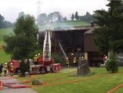 Die Einsatzkräfte der Feuerwehr konnten den Brand rasch löschen. (Bild: Leserbild)