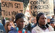 Demonstration gegen rechte Gewalt in Macerata. (Bild: Matteo Bazzi/Keystone (10. Februar 2018))