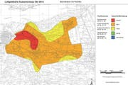 Luftgütekarte von 2013. (Bild: pd)