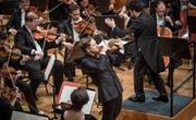 Konzert des Luzerner Sinfonieorchesters mit Renaud Capuçon an der Violine. (Bild: Manuela Jans-Koch (Luzern, 18. Januar 2018))