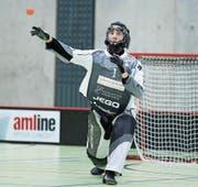 United-Goalie Petter Nilsson dürfte wieder oft im Zentrum des Geschehens stehen. (Bild: Michael Peter/Zug United)