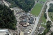 Der Buoholzbach verwüstete beim Unwetter 2005 ein ganzes Industriequartier. (Bild: PD)