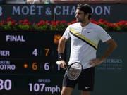 Roger Federer kann auch die knappe Finalniederlage nicht frustrieren (Bild: KEYSTONE/AP/MARK J. TERRILL)