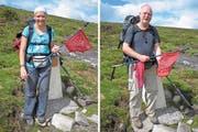 2011 erreichen Agnes Schorno Doss und Folker Doss den höchsten Punkt des Camino Primitivo in Nordspanien. (Bild: Archiv Folker Doss)