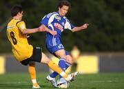 Lior Etter (rechts) im Dress des U21-Teams des FC Luzern. (Archivbild Philipp Schmidli/Neue LZ)