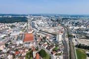 Blick auf den Seetalplatz, auf dem ein neues Verwaltungsgebäude geplant ist. (Bild: Philipp Schmidli)