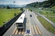 Die Ringstrasse in Kriens. Hier herrscht vorderhand weiterhin Tempo 50. (Bild Pius Amrein)