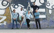 Das Selma-Team in Helsinki (von links): Niklas Linser, Patrik Schär, Valeria Gasik, Kevin Linser, Mikael Roos. Bild: (Bild: PD)