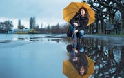 Patricia Jeker fühlt sich fit für eine Pilgerreise – auch wenn es regnen würde. Bild: Maria Schmid (Zug, 9. März 2017)
