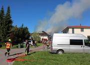 In Herlisberg bei Beromünster brennt es. (Bild: Radio-Pilatus-Hörer Kilian Pfister)