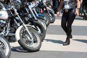 Die Bikerszene trifft sich am Wochenende in Willisau. (Bild: Archiv LZ)
